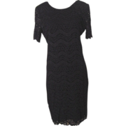 Vintage Nina Piccalino Black Lace Dress