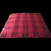 Vintage Red and Black Vera Silk Scarf with Ladybug