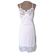 Vintage White Maidenform Slip with Pretty Lace