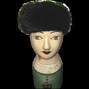 Vintage Dancinger Black Fur Hat
