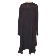 Vintage Anne Crimmins Black Silk Dress