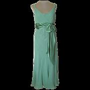 Jones of New York Green Silk Dress