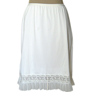 SOLD Vintage White Half Slip with Lace and Pleats