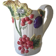 Vintage Handpainted Ceramic Fruit Pitcher
