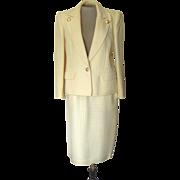 Vintage Valentino Off- White Suit