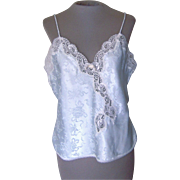 Vintage Christian Dior Pale Blue Camisole with Pretty Lace