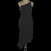 Vintage Black One Strap Jessica McClintock for Gunne Sax Dress