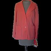 Vintage Butte Knit Orange Jacket with Original Tags