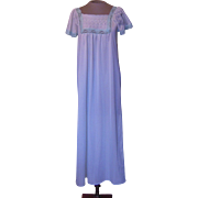 Vintage Light Green Danni Nightgown with Green Lace