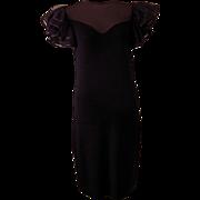 Vintage St. John Black Knit Dress from  Neiman Marcus
