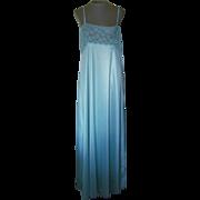 Diane Von Furstenberg Long Seafoam Green Nightgown with Lace