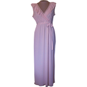 Light Pink Nightgown with Lace Made in France