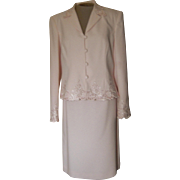 Vintage Light Pink John Meyer of Norwich Suit with Beautiful Embroidery