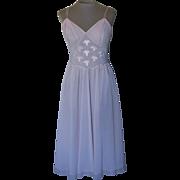 Vintage Light Pink Gotham Gold Stripe Short Nightgown