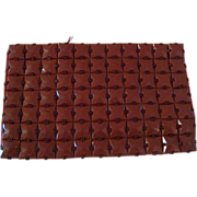 Vintage Brown Colored Plasti-Square Purse from the 1930's