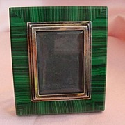 Malachite 800 Silver Picture Frame