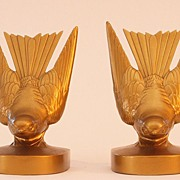Gilded Swallow Bookends