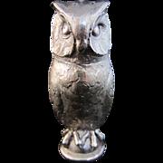 Silver Owl Salt or Pepper Shaker