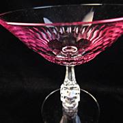 Custom Tiffin Champagne/Sherbet Glasses in Wisteria