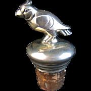 Silver Parrot Bottle Stopper