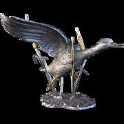Italian Silver Flying Duck