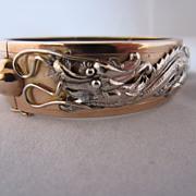 SALE Unique 14k Two-Tone Dragon Bracelet