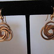 9k Rose Gold Knot Earrings