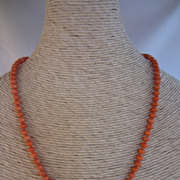 SALE Victorian Salmon Coral Beads