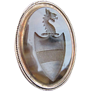 SALE Georgian Agate and 15k Rose Gold Seal Fob