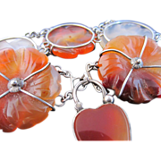 Sterling Silver and Scottish Agate Bracelet