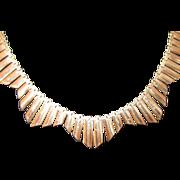 REDUCED Vintage, English 9k Collar Necklace