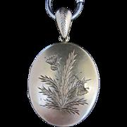 SOLD Gilded Silver Engraved Locket