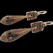 Victorian Taille d'Epargne Drop Earrings