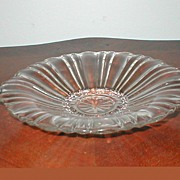 """SALE Depression Glass """"Old Cafe""""  Closed Handle Candy Bowl"""