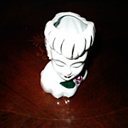 SALE 1950's Napco Lady Head Vase with Gold Trim