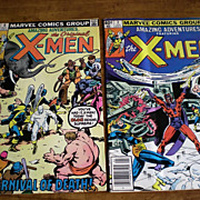 X-MEN Comics- 1980 Vol. 2  Jan. #2 and May #6