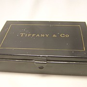 Fabulous Antique Tiffany Shoe Shine Kit, Hand-Lettered