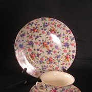 Royal Winton Old Cottage Chintz China Trio
