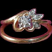 Wedding Band Set 10k Diamonds Band & Engagement Ring