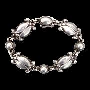 Georg Jensen Sterling Moonlight Blossom Bracelet