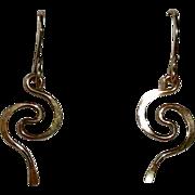 14k GF Curled Wire Pierced French Wire Earrings