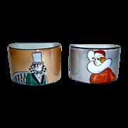 Art Deco Noritake Man & Woman Napkin Rings