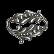 Viking Craft Sterling Sensuous Nouveau Style Pin