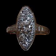 Art Deco Platinum Diamond Ring c1920s