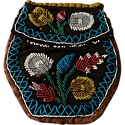 Native American Eastern Woodlands Beaded Purse