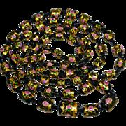 Early Handmade Venetian Long Graduated Bead Necklace