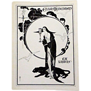 Original Art Nouveau Bookplate~ Woman & Panther ~Elias Leiberman Set of 3
