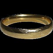 14k Yellow Gold Engraved Bangle Bracelet