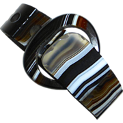 Scottish Striped Agate Buckle Bracelet