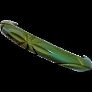 Sage Green Bakelite Carved Vine & Star Bangle Bracelet